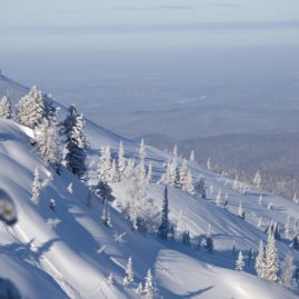 Typical landscape of our snowcatskiing zone