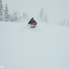 Powder skiing in October!